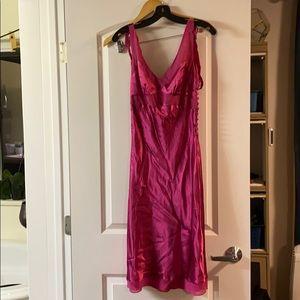 Bcbg maxazria pink silk dress.